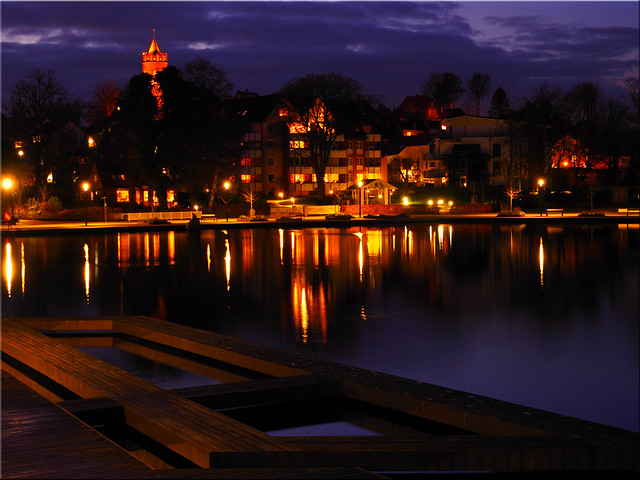 The Bay of Eutin at the Blue Hour