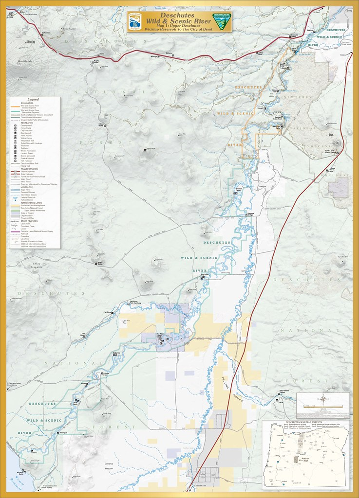 Deschutes Wild and Scenic River -- Map 1 | The Deschutes Riv… | Flickr