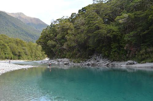 newzealand mountaspiringnationalpark bluepools