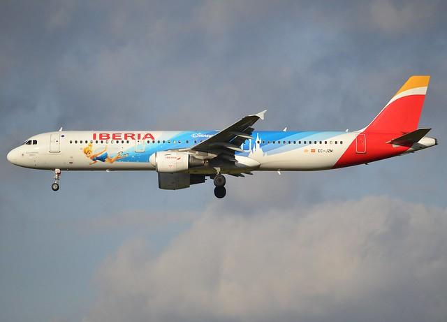 EC-JZM, Airbus A321-212, c/n 2996, Iberia,