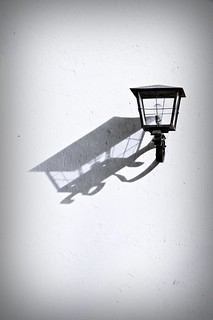 shadow of a street lamp | by bwstock