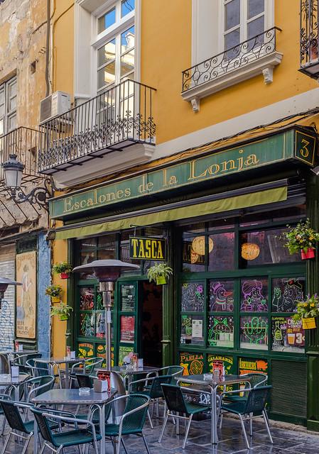 Tapas Bar (Side of La Lonja - Silk Exchange) Valencia ( Fujifilm X100F Compact) (1 of 1)