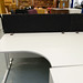 White l shaped desk E130