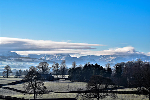 frost cumbria penrith fells clouds ullswater blue white trees fields wall house landscape d5500 nikon 55300mm