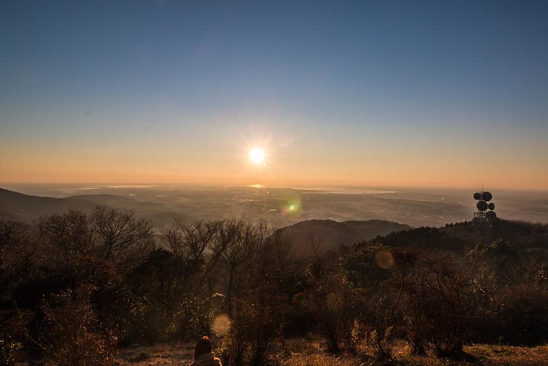 宝篋山の日の出