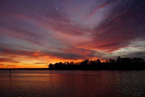 sunset cloudsstormssunsetssunrises spectacularsunsetsandsunrises clouds northcarolina northwestcreek northwestcreekmarina fairfieldharbour sony sonyphotographing sonya58 sky water dusk