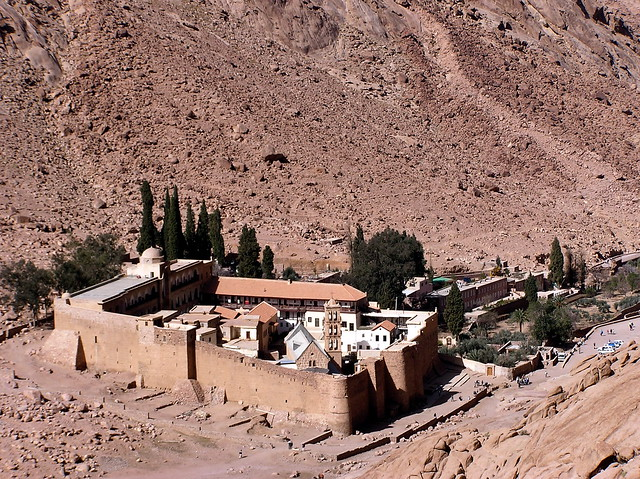 St. Katherine's Monastery, from a little higher up