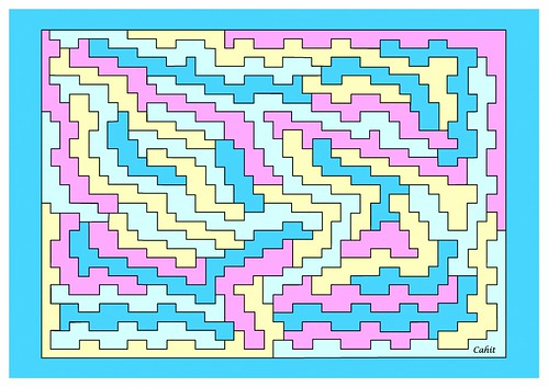 Spiral Chain Four Coloring (Rectangular Map)