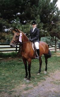 Me & Demi Tasse @ Manor Stables Equestrian Camp, Gettysburg, PA, July 1989