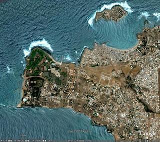 セネガル】 ヴェルデ岬(アフリカ大陸最西端) | Google Earth(TM ...