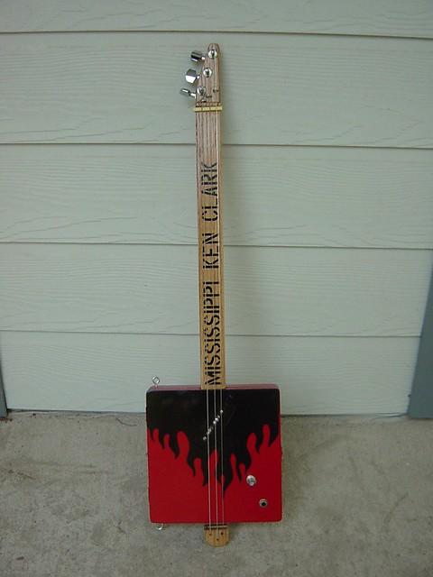 Truly electric cigar box guitar