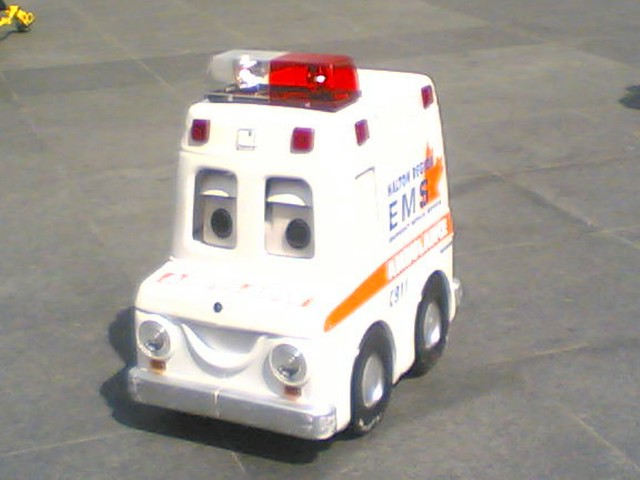 Remote Controlled Miniature Ambulance at Dundas Square