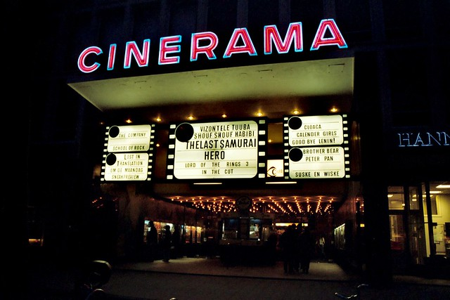 cinerama, rotterdam - front, marquee | previously this build… | flickr