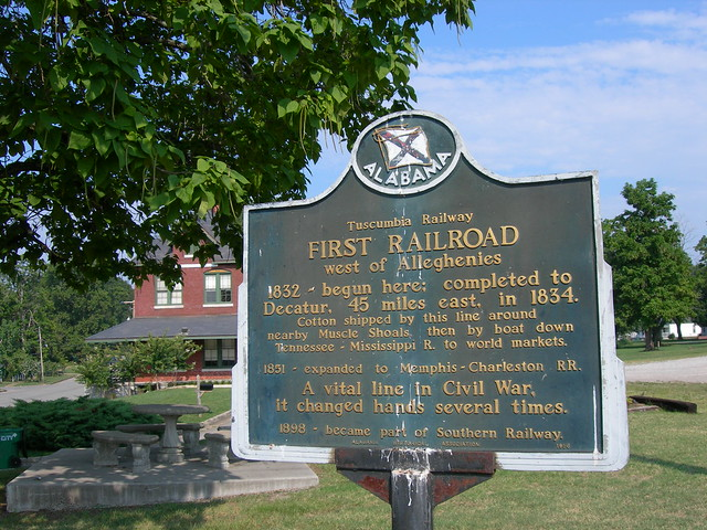 Tuscumbia Railroad Historic Sign