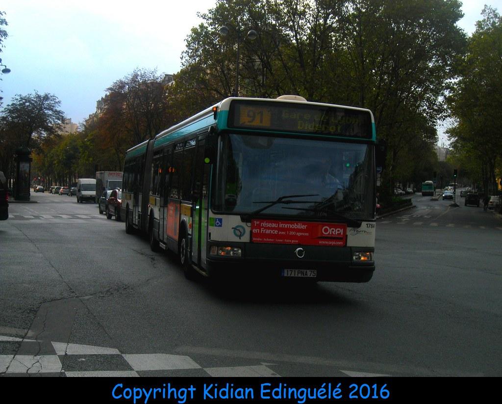 Ligne 91 RATP Agora L Er3 n 1784 en partiel Gare de Lyon