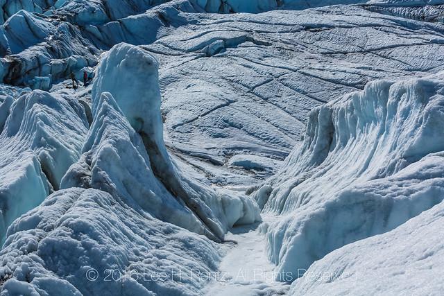 Chaotic Jumble of Ice and Crevasses on Matanuska Glacier