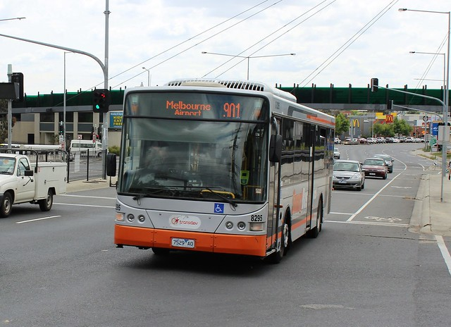 Transdev bus #8295 running route 901 towards Melbourne Airport, Ringwood