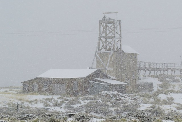 Carissa Mine in a Snowstorm