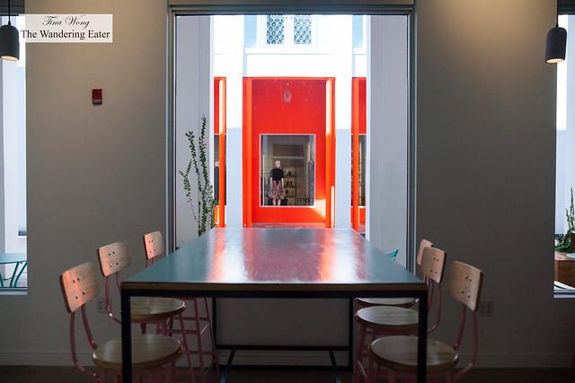 Interior looking toward the Fendi store next door