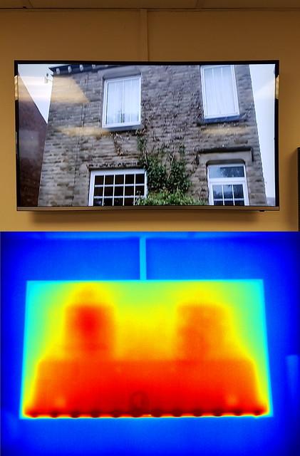 Odd heating of TV backlight