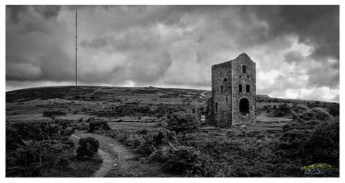 mast cornwall moorland clouds storm moody mine