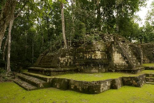 A Small Temple Pyramid - Balamku Mayan Ruins