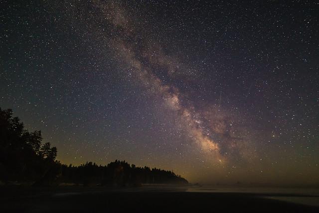Milky Way above Ruby Beach