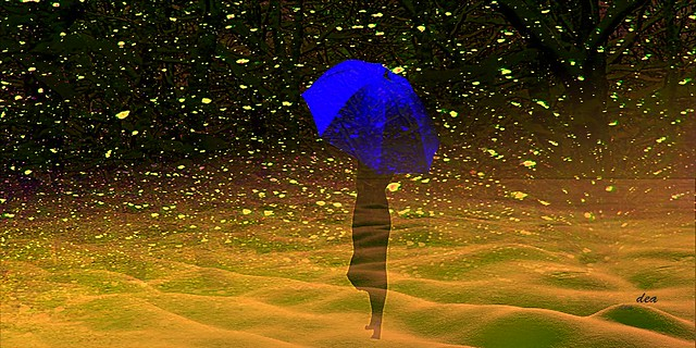 my blue umbrella