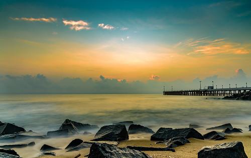 sunrise pondicherry india indiatourism nature bayofbengal sea naturephotohraphy