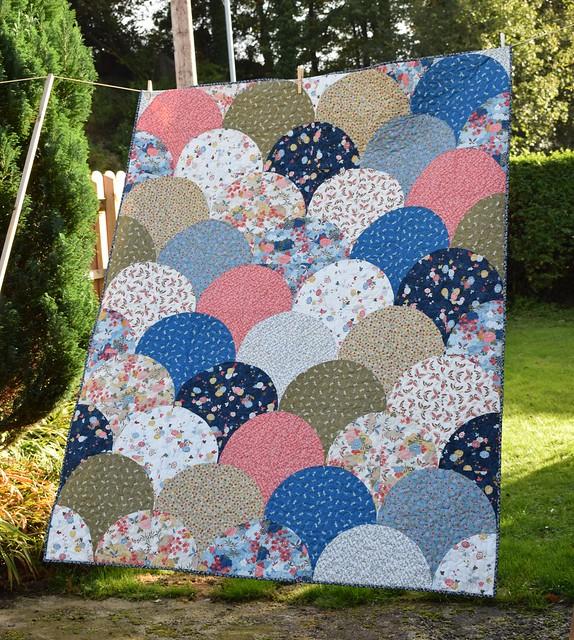 Oriental Clamshells Quilt (Popular Patchwork Jan18)