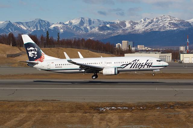 Alaska Airlines N581AS 20 Apr 14   ASA 115 KSEA PANC Profile