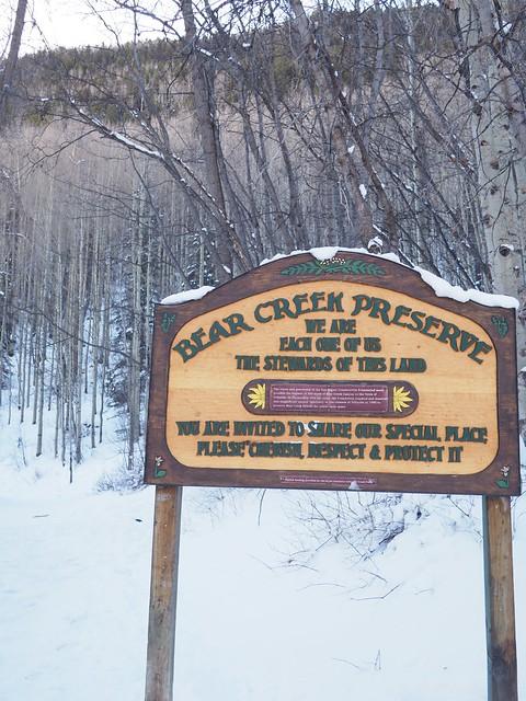 水, 2018-01-17 13:15 - Bear Creek Trail入口
