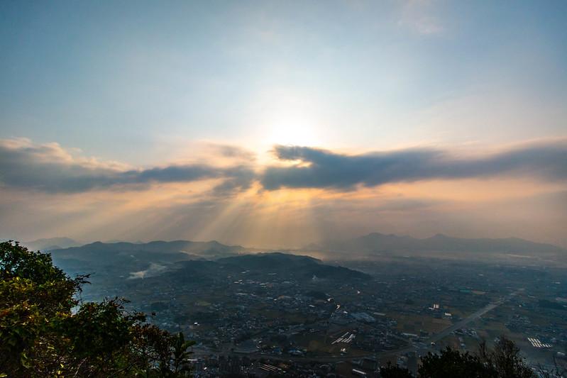 飯山から見えた朝日