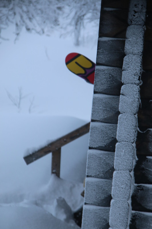 snow .... board