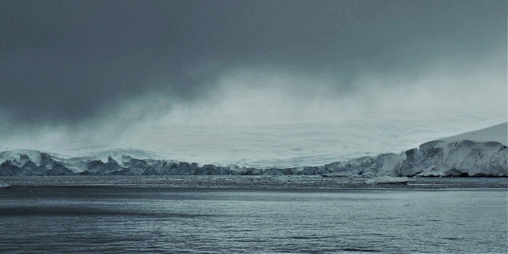 The coast of the Antarctic Peninsula.