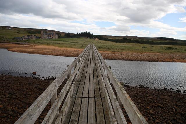 Footbridge over the Halladale River, Melvich