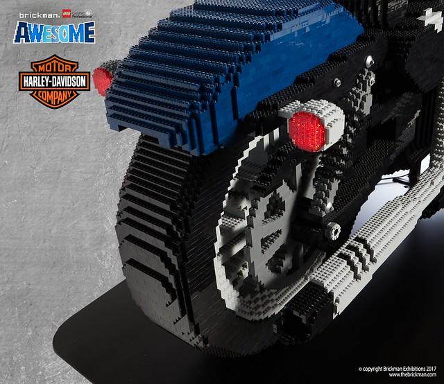 LEGO® brick Harley-Davidson 2018 48 motorcycle back