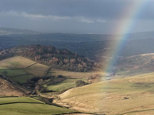 glossop derbyshire february rainbow shirehill