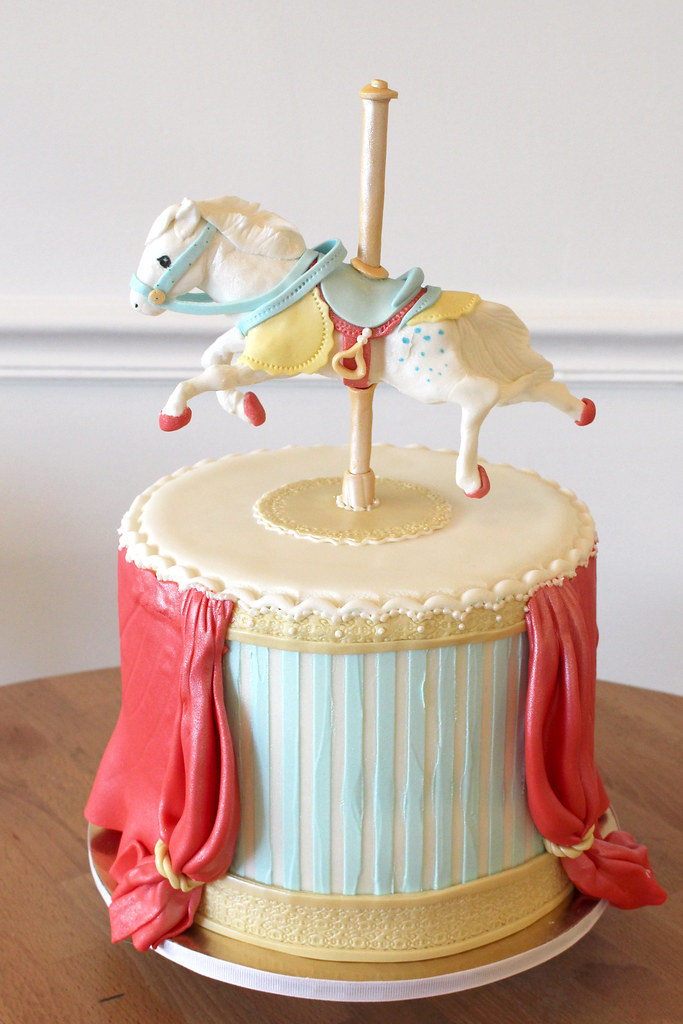 Miraculous Carousel Horse Birthday Cake Oakleaf Cakes Flickr Personalised Birthday Cards Akebfashionlily Jamesorg