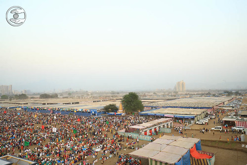Arial view of Samagam ground