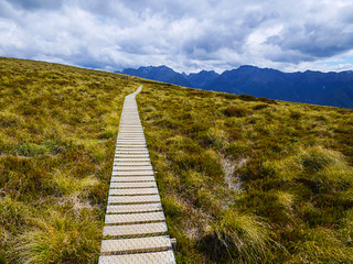 Boardwalk towards Luxmore Hut | by snackronym
