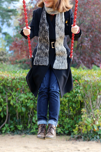 East London Knit's Brioche Twister Scarf | by English Girl at Home