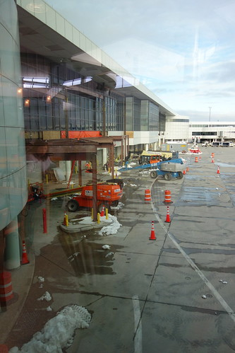 ROC Greater Rochester International Airport atrium west expansion construction 2018 March 5 photo 2