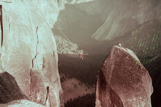 Tyrolean traverse off the Lost Arrow Spire | by Richard-
