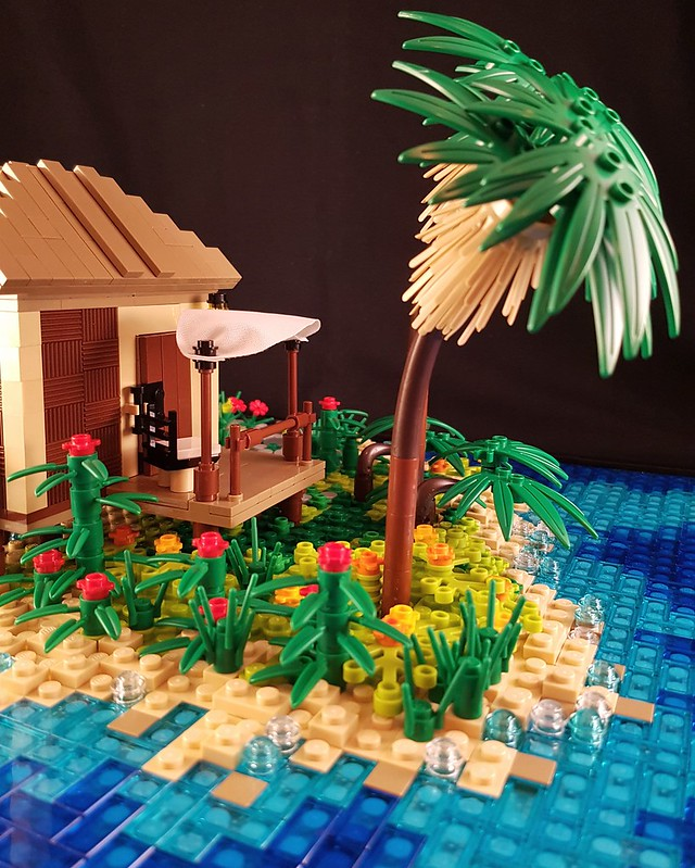Tropical Holiday Bungalow MOC. A glimpse of paradise.