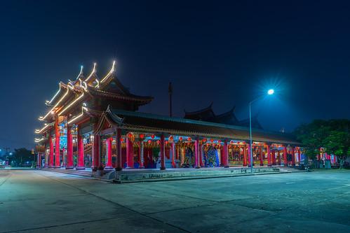 2018 architecture asia buddhism building landscape light longexposure newyear night outdoor outdoors temple thailand twilight wanderlust changwatsamutprakan samutprakan