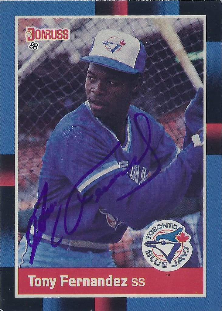 1988 Donruss Tony Fernandez 319 Shortstop Autograph