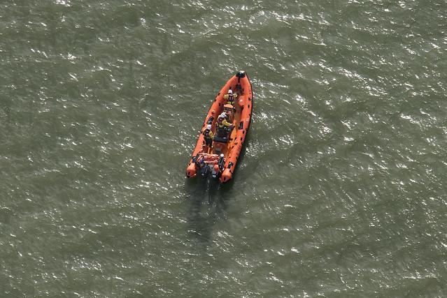 RNLI Atlantic 75 class lifeboat B786 Great Yarmouth lifeboat - aerial