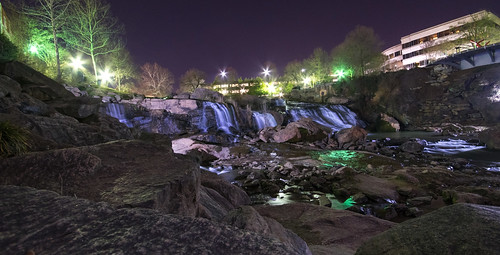 falls park reedy greenville south carolina fallspark onthereedy water night long exposure landscape sc greenvillesouthcarolina waterfall