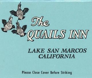 Flickr the matchbooks collectible matchbooks pool - Quails inn restaurant san marcos ...